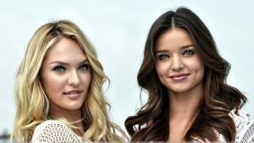 Sweet Smiling Face Of Miranda Kerr N Candice Swanepoel At Victoria&#8217;s Secret SWIM Collection
